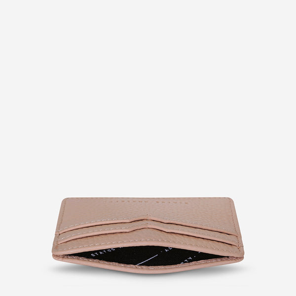 Together For Now Leather Card Holder Dusty Pink