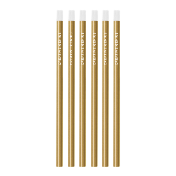 Creative Genius Gold Pencil Set of 6