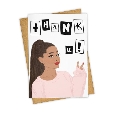 Ariana Grande Thank U Card