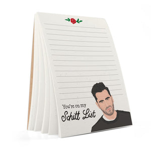 David Rose Schitt List Notepad