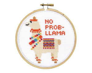Cross Stitch Kit No Prob-llama