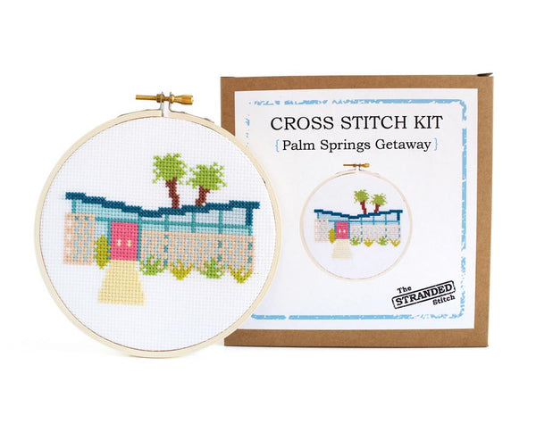 Cross Stitch Kit Palm Springs Getaway