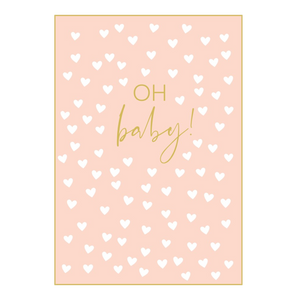 Oh Baby Card Pink