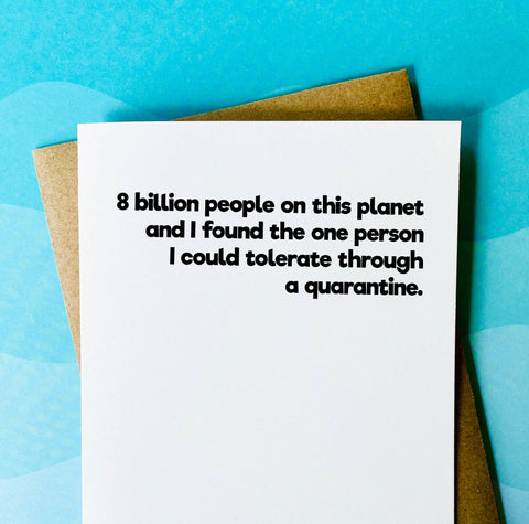 8 Billion People Card