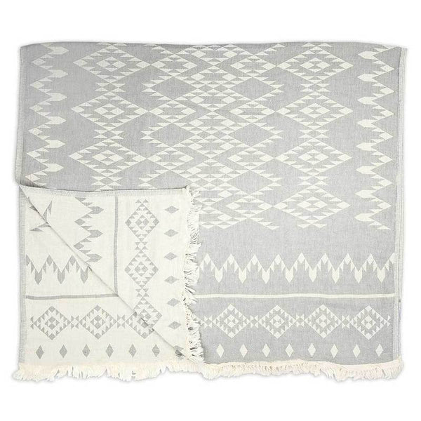 Turkish Towel Atlas Light Grey