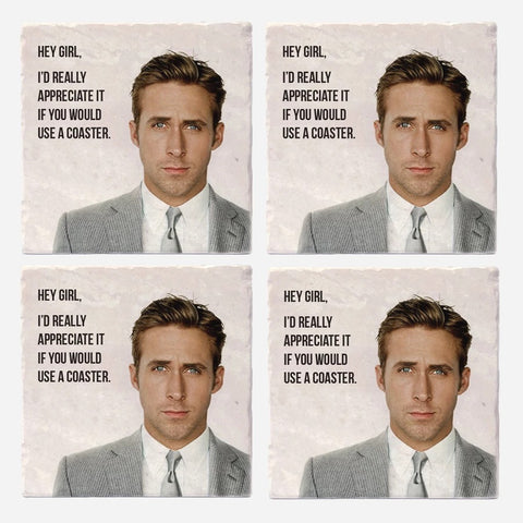 Coaster Set Hey Girl