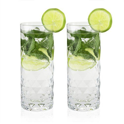 Crystal Highball Glasses Gem