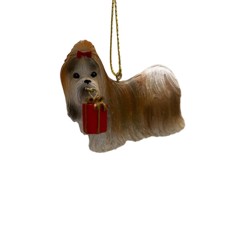 Dog With Present Ornament