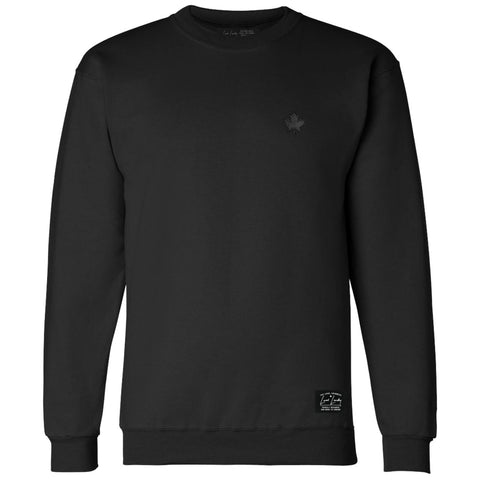 Maple Leaf Bamboo Sweatshirt Black