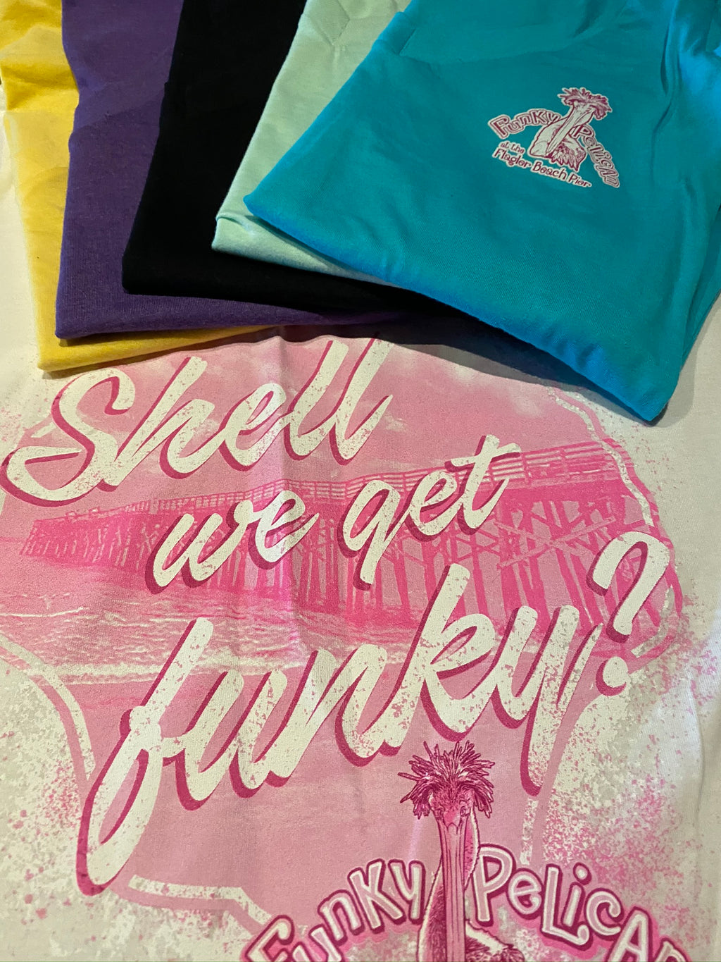 "Women's V-Neck T-Shirts - ""Shell We Get Funky"""