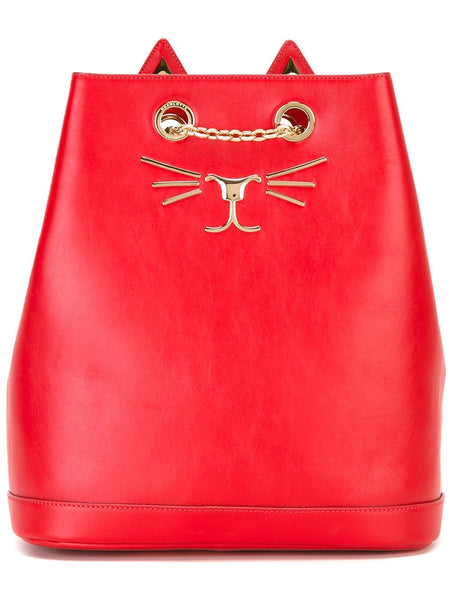 Charlotte Olympia Feline embroidered backpack