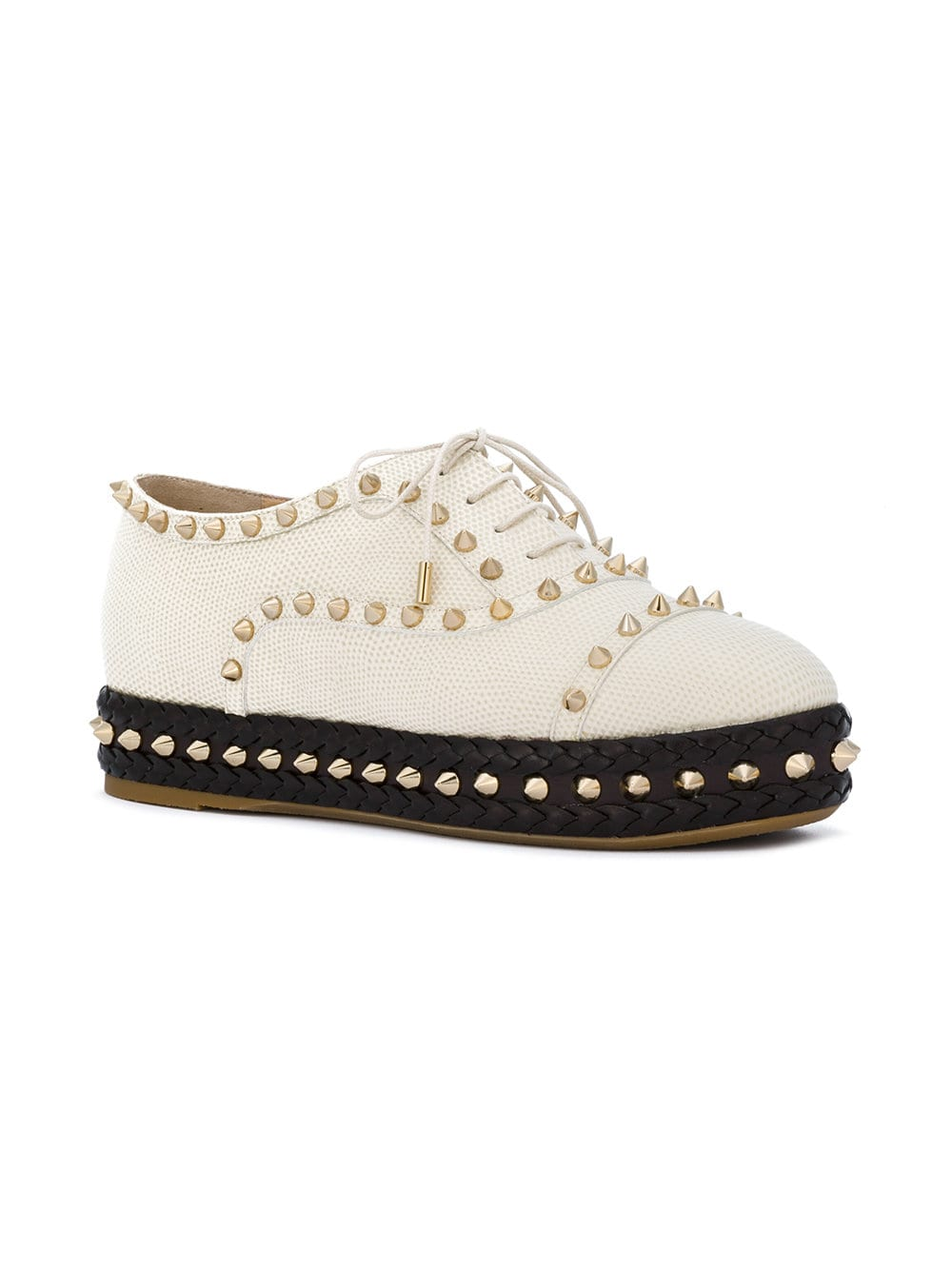 Studded platform shoes