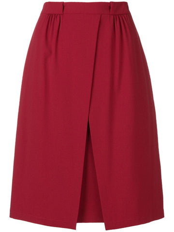 Off centre split skirt