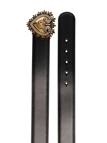 Dolce & Gabbana Devotion heart-buckle belt
