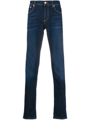 Logo-embroidered slim-fit jeans