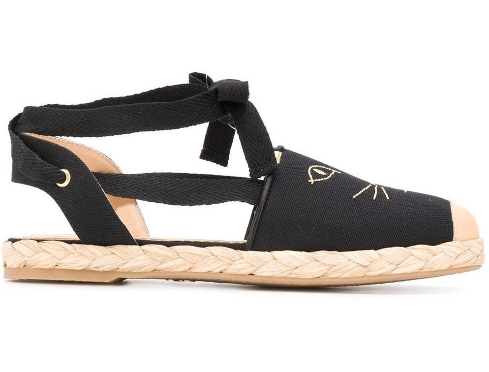 Charlotte Olympia Kitty canvas espadrilles