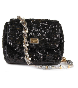 Dolce & Gabbana Small sequin embellished chain strap bag