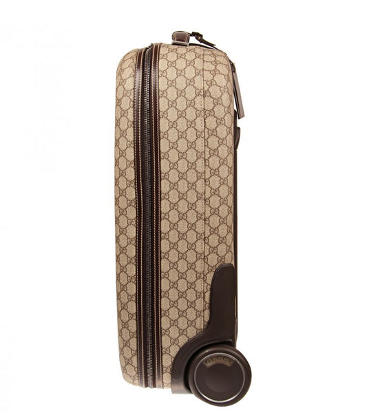 Beige & brown original GG print suitcase.