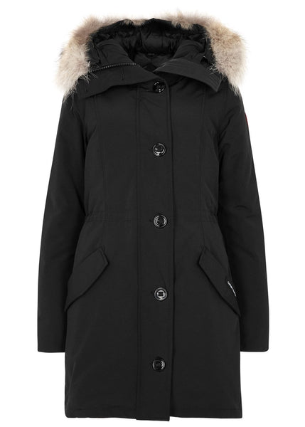 Canada Goose Rossclair black fur-trimmed Arctic Tech parka