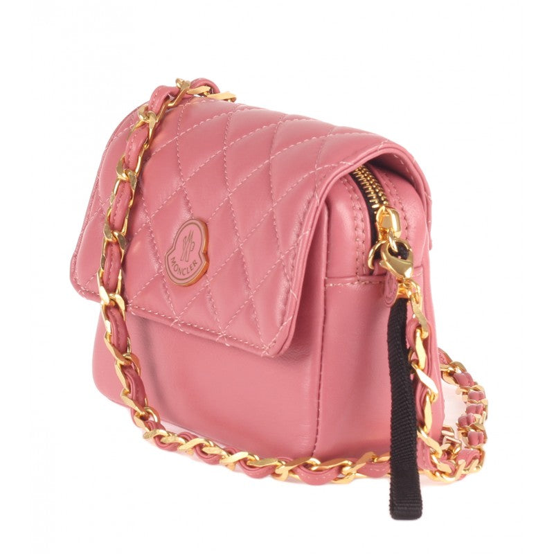 Pink leather quilted 'Bethanie' cross body bag