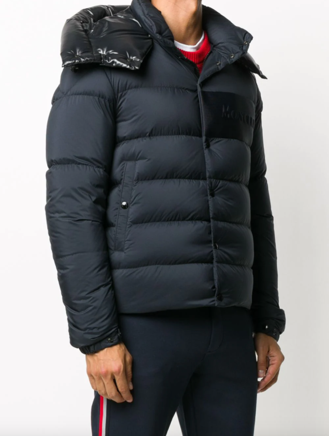 Detachable-hood padded jacket