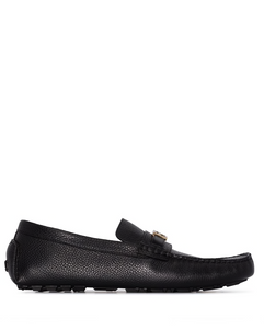 Baguette leather loafers