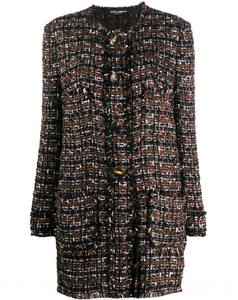 Dolce & Gabbana Single-breasted tweed coat