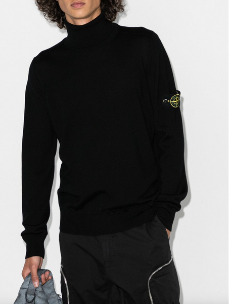 Stone Island Wool roll-neck jumper