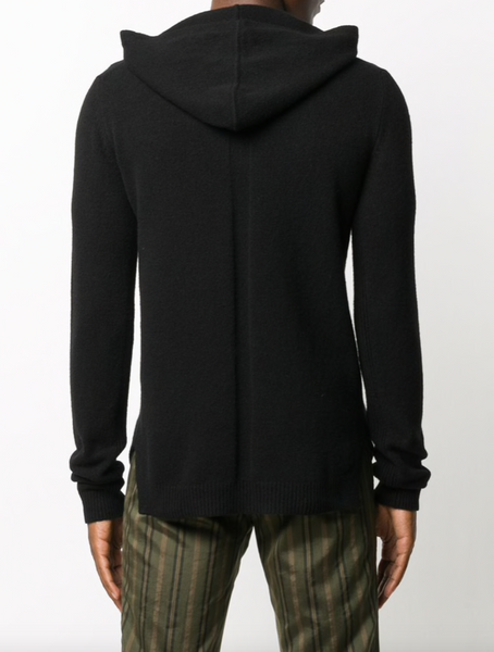 Rick Owens Hooded cashmere sweater