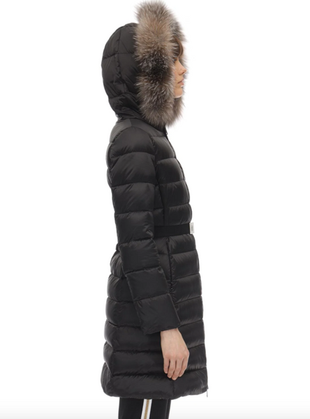 Tinuv belted padded coat