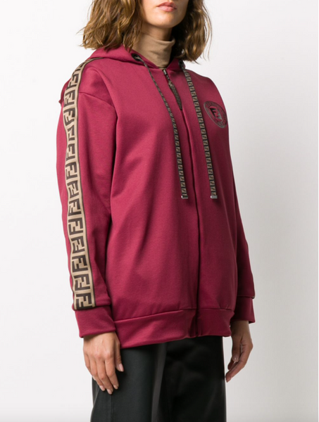 Fendi FF-motif hooded jacket