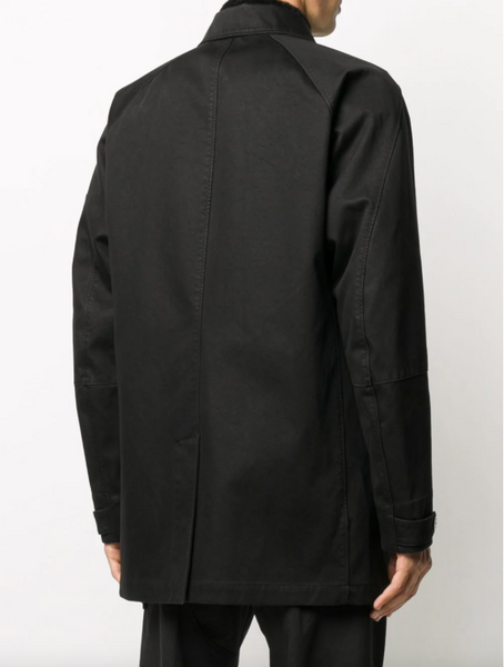Stone Island off-centre concealed fastening jacket