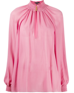Gucci cutout silk-georgette blouse