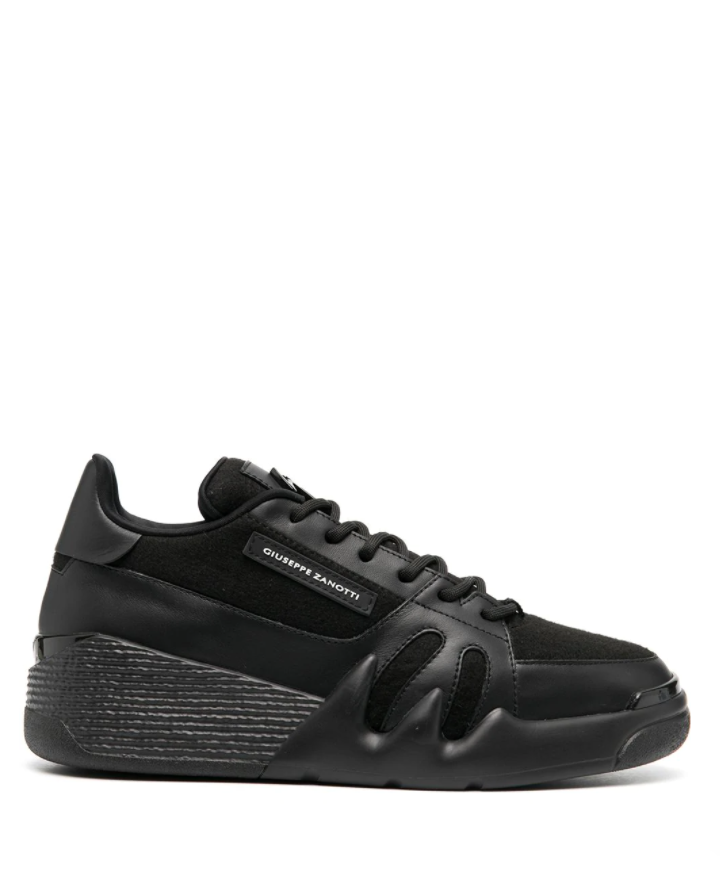 Giuseppe Zanotti panelled lace-up sneakers