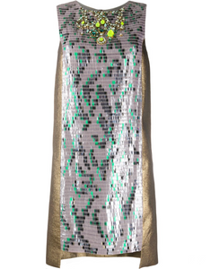 Matthew Williamson panelled sequin cocktail dress