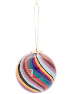 Paul Smith striped Christmas tree bauble