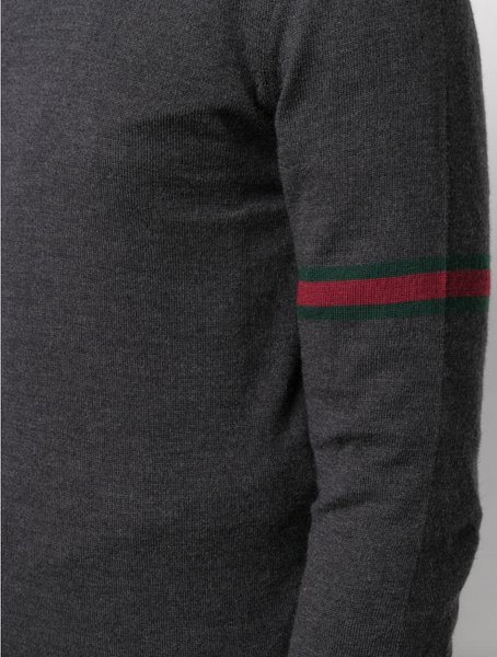 Gucci stripe-detail wool jumper