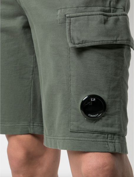 C.P. Company logo-patch drawstring track shorts