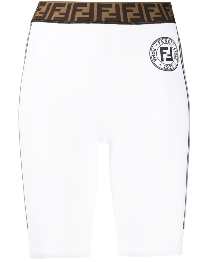 Fendi FF trim cycling shorts
