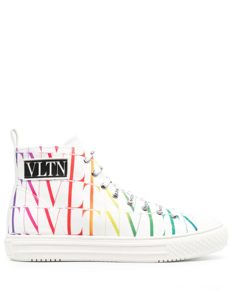Valentino Garavani VLTN rainbow-logo high-top sneakers