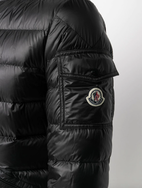 Moncler logo-patch zip-up padded jacket
