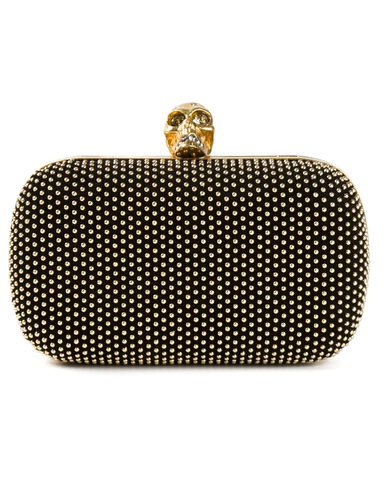 'Skull' studded box clutch