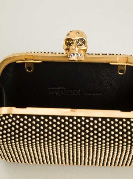 'Skull' studded box clutch - Profile Fashion