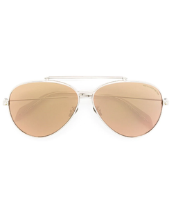 'Piercing Shield' aviator sunglasses