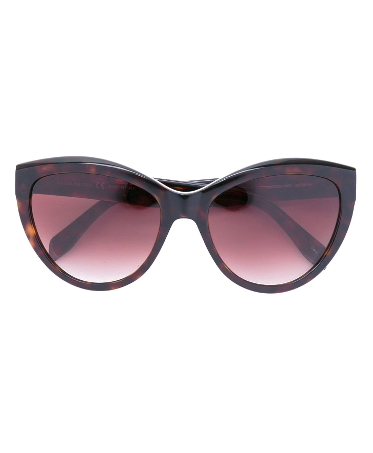Mini rivets oversized sunglasses