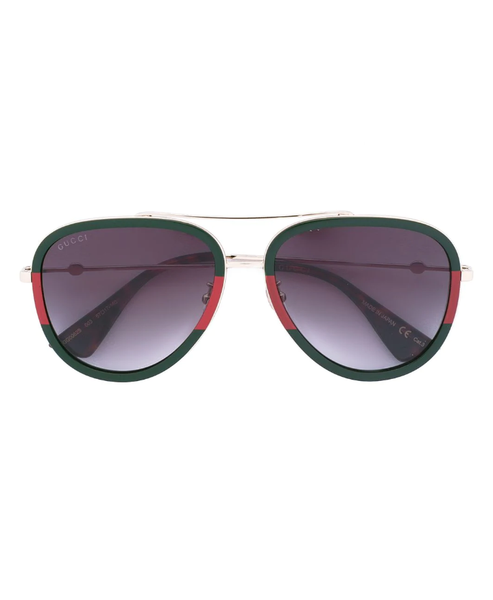 Web frame aviator sunglasses