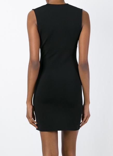 Deep V-neck fitted dress