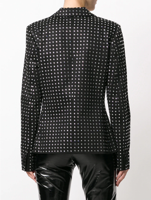 Micro dotted blazer