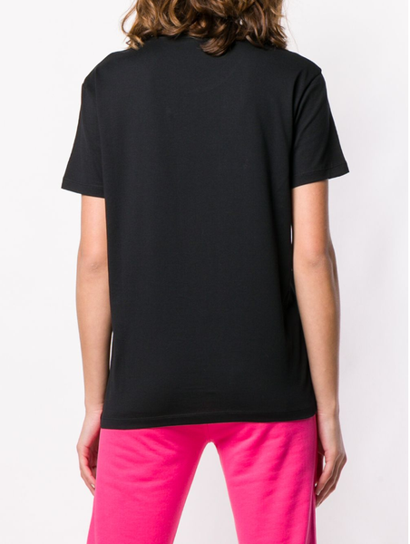 Logo print sequin T-shirt
