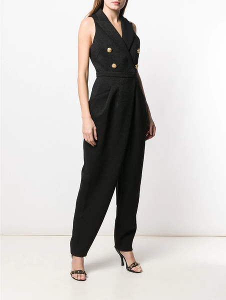Balmain Sleeveless double breasted jumpsuit